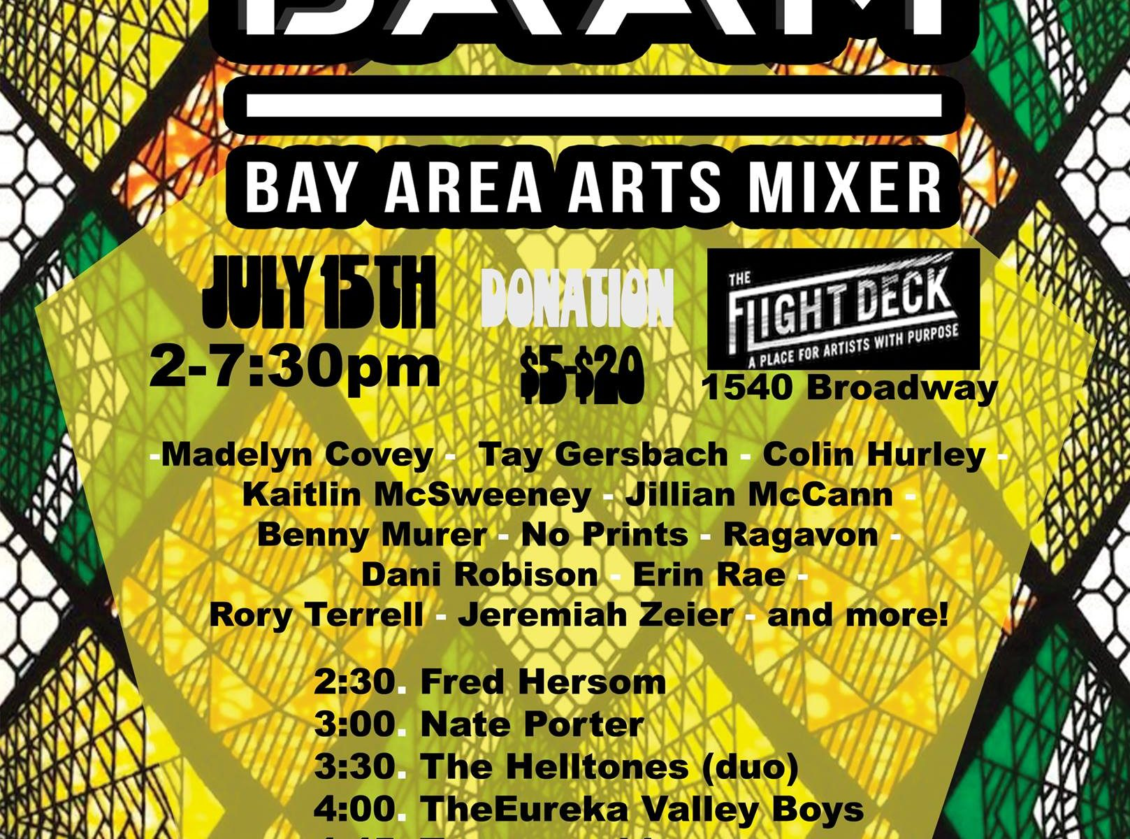 July 2018 Edition // Midsummer Day's BAAM - Bay Area Arts Mixer